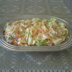 Salada de repolho com abacaxi Raw Food Recipes, Vegetarian Recipes, Cooking Recipes, Healthy Recipes, I Love Food, Good Food, Yummy Food, Portuguese Recipes, Food Inspiration