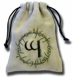 Amazon.com: Q-Workshop: Elven Dice Bag in Linen (Elvish): Toys & Games