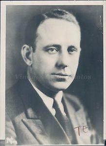 1936 Photo Carlos Watson Republican Candidate Seat US Senate Brownsville TX