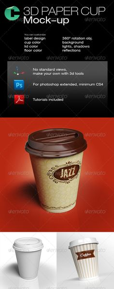 3d Object - Coffee Paper Cup - GraphicRiver Item for Sale