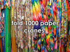 #138- Make 1000 paper cranes on my own. Because I've done it with help before, and I would like to make a wish.