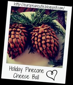 Holiday Pinecone Cheese Ball on MyRecipeMagic.com