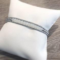 Opal Birthstone Bracelet Set 3 Individual Beaded Bracelets | Etsy Stack Bracelets, Stackable Bracelets, Cute Bracelets, Crystal Bracelets, Stretch Bracelets, Silver Bracelets, Silver Beads, Opal Birthstone, Faceted Crystal