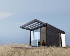 Small house tiny home To bring modular home additions to great outdoors, Danish studio Onen and Swedish company Add-A-Room have put their heads together to bring rustic cottage style and additional living space. Modern Tiny House, Small House Design, Prefab Homes, Modular Homes, Rustic Cottage, Cottage Style, Modern Cottage, Add A Room, Interior Design Minimalist