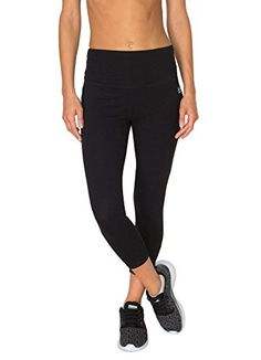 6f9183cf0a RBX Active Womens Cotton Span Tummy Control Capri Black XL    More info  could be
