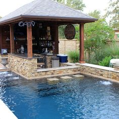 Swimming Pool, Outstanding Modern Swim Up Bar Design Ideas With Bar ...
