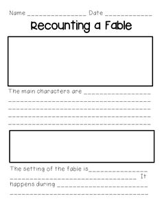 Mandy's Tips for Teachers: Recounting Fables FREEBIE
