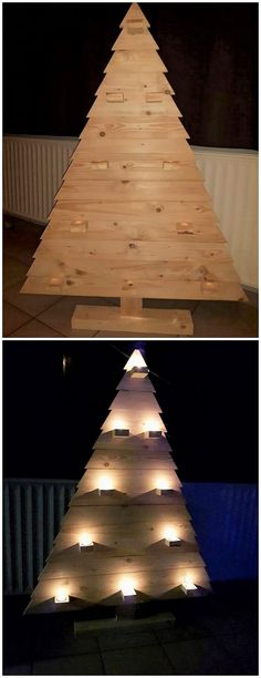 Here the picture of the awesome wood pallet idea is offering out the splendid work of the tree design that is included with the lightning effect inside it. It can turn out to be your important decoration items straight away into your house. It will look commendable attractive on the Christmas events.