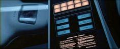 Le cinéma et les interfaces fictives (les FUI : fantasy user interfaces) : interface dans 2001 Odysée de l'Espace