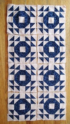 8 Antique GOOSE in The Pond Quilt Blocks c1880 The Best Indigo Blues WOW | eBay
