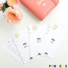 Looking for printable planner inserts? Our 2016 set for personal size planners is available for free! Includes a yearly overview, dated month on two pages, undated week on two pages, and lined notes.