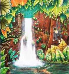 #magicaljungle Colouring Pages, Adult Coloring Pages, Coloring Books, Lost Ocean, Magical Jungle Johanna Basford, Johanna Basford Secret Garden, Jungle Art, Secret Garden Coloring Book, Johanna Basford Coloring Book