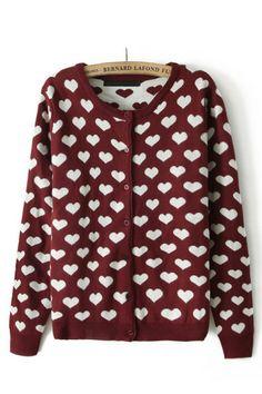 jacquard heart sweater