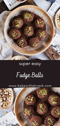 These fudge balls are the most simple thing you can make this festive season. They are eggless and do not require an oven, and can practically be made under 5 minutes! Just throw all ingredients together in one bowl, and voila! I assure you no chocolate loving person can resist these fudge balls! Decadent Chocolate, Chocolate Hazelnut, Melting Chocolate, Chocolate Recipes, Baking Recipes, Dessert Recipes, Desserts, Healthy Food, Healthy Recipes