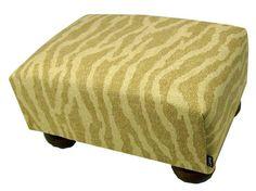 Nutmeg Animal Print Upholstered Footstool Ottoman