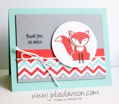 For more Stampin' Up! project ideas, visit my blog at http://juliedavison.com