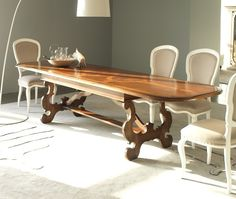 MM585 extendale table 100% hand made in Italy www.marchettimaison.com