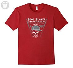Mens Funny Pool Player Tshirt I Could Shoot Better Large Cranberry - Funny shirts (*Amazon Partner-Link)