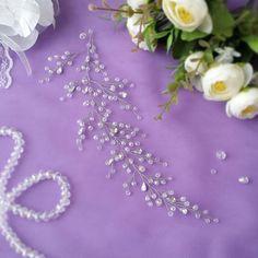 Cabello largo de la vid vid de la novia cristales nupcial