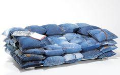 Muebles Portobellostreet.es:  Sofa Trinchera denim con cojines - Sofás de Diseño - Muebles de Diseño