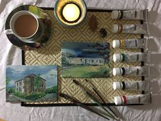 Sarah J. Loecker : How to order a painting of your home- Would you like to order a hand painted picture of your home? In today's post I share how to order your custom painting just in time for the holidays. Unique Paintings, Mini Paintings, Paris Pictures, Pictures Of You, Student Home, Mantle Piece, Living In Europe, Sarah J, Canvas Board