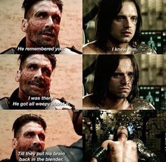 The scene with Bucky from the Winter Soldier flashed in my mind as soon as Crossbones said that...and I maybe cried. A lottle.