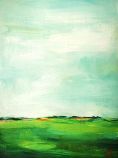 Under a Big, Blue Sky an Original Oil Painting by Emily Jeffords