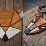 Designer cria lindos animais geométricos feitos de madeira para decorar a casa