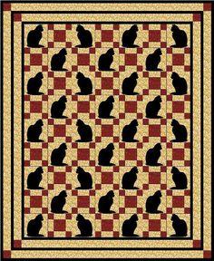 Kitty in the Corner queen bedspread pattern