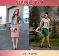 Confira nossa inspiração street style, que mostra dois looks bacanas com a saia lápis, o hit desta estação.