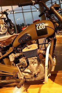OldMotoDude: 1951 FN M13 Military Motorcycle on display at the Barber Vintage Motorsports Museum -- Birmingham, Al.