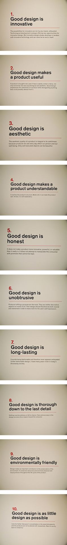 "Dieter Rams' ""Ten principles for Good Design"""
