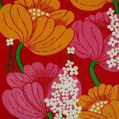 modflowers: vintage Finnish fabric designed by Raili Konttinen Cool Patterns, Vintage Patterns, Textures Patterns, Fabric Patterns, Print Patterns, Floral Patterns, Textile Prints, Textiles, Textile Design