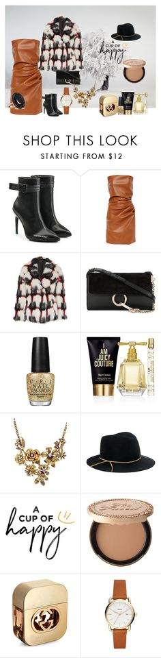 """Village winter"" by momentromantique on Polyvore featuring moda, Off-White, Topshop, Chloé, OPI, Juicy Couture, WithChic, Eugenia Kim, Too Faced Cosmetics i Gucci"