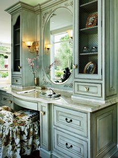 Traditional Bathroom With Oversize Mirror & Pendant Lights on Track : Designers' Portfolio : HGTV - Home & Garden Television#//style-traditi...