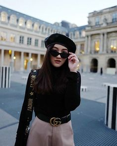 Get this look: http://lb.nu/look/8936020 More looks by Lalisa Trirattanajaraspon: http://lb.nu/lalisat Items in this look: Christian Dior J'Adior Flap Bag, Gucci Belt, Zara Leather Beret, Le Specs The Last Lolita Cat Eye, Zara Turtleneck Top, Virgin X Mermaid Wide Leg Trouser #dior #bag #gucci #belt #leather #beret #cateye #sunglasses - Sale! Up to 75% OFF! Shop at Stylizio for women's and men's designer handbags, luxury sunglasses, watches, jewelry, purses, wallets, clothes, underwear…
