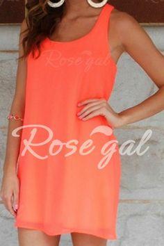 Stylish Scoop Neck Solid Color Bowknot Embellished Sleeveless Dress For Women Summer Dresses | RoseGal.com