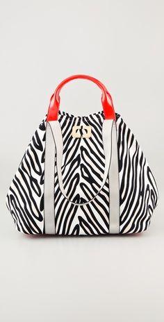 225ef6be3a55 Large Kaya Printed Canvas Bag Leather Bag Design