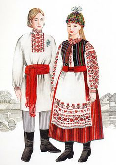FolkCostumeEmbroidery Costume Of West Or Volyn Polissia Ukraine