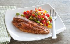 Love blackened catfish? Here's a less messy—yet just as tasty—version. Serve the catfish with succotash and plenty of lemon wedges.