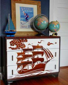 sail boat dresser