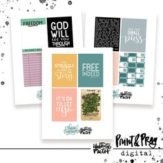 Wait Out the Wilderness Card Set - Illustrated Faith Faith Bible, Illustrated Faith, Pep Talks, Pattern Paper, Project Life, Ephemera, Wilderness, Pray, Journaling