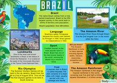 If you are thinking about learning Portuguese then you probably have a reason behind it. Maybe you plan to travel to either Portugal or Brazil, perhaps you have friends or family members you are keen to converse with in their mother t Brazil Geography, World Geography, Brazil Culture, Culture Day, Brazil Facts, Facts About Brazil, Around The World Theme, Little Passports, Learn Brazilian Portuguese