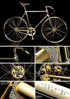 swarovski crystal and gold plated bike