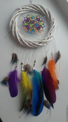 Купить Ловец снов...морозная радуга... - комбинированный, ловец снов, ловец сновидений