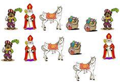 Figuren Sint, Piet, paard en zak