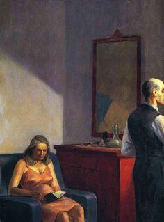 art-mirrors-art: Edward Hopper - Hotel by a railroad (1952) - Detail.