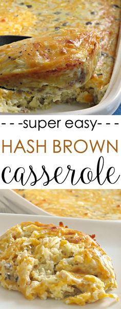 This make ahead easy breakfast casserole is simple to throw together and bake. It's filled with sausage and hash browns, and covered in cheese. It's a crowd-pleasing favorite for Christmas breakfast, too!