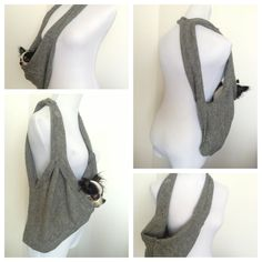 Puppy Pocket Scarf Dog Sling Pet Carrier in Charcoal by HeartPup, $88.00