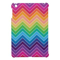 Rainbow Chevron Pattern Modern gifts Cover For The iPad Mini School Binders, Rainbow Chevron, Ipad Mini, Ipad Case, Back To School, Cover, Pattern, Fun, Gifts